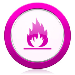flame violet icon
