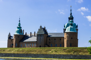 Kalmar Castle situated on the seafront in Sweden.