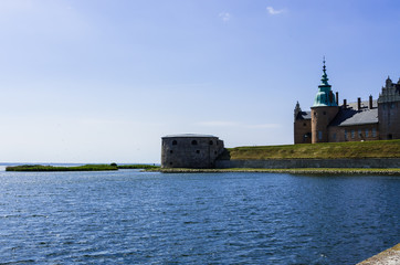 Castle situated on the seafront in Sweden.