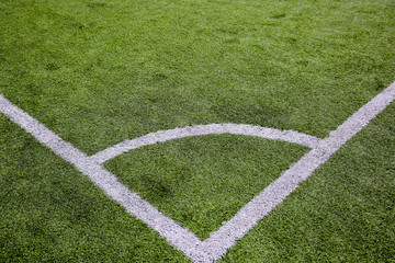 Football corner with artificial surface
