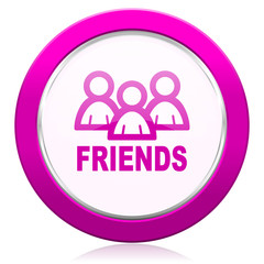 friends violet icon