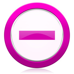 minus violet icon