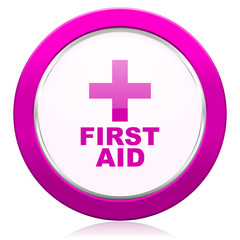 first aid violet icon