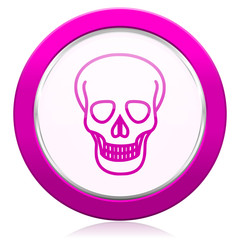 skull violet icon death sign