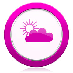 cloud violet icon waether forecast sign