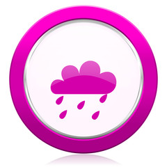 rain violet icon waether forecast sign