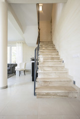 Stairs inside the huge apartment