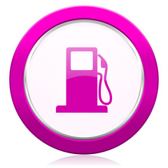 petrol violet icon gas station sign
