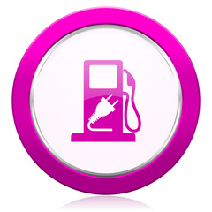 fuel violet icon hybrid fuel sign
