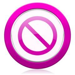 access denied violet icon
