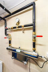 site wastewater treatment system with display, sensors and elect