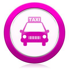 taxi violet icon