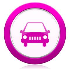 car violet icon auto sign