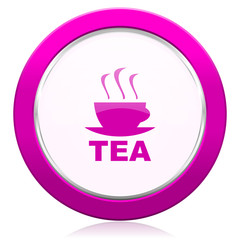 tea violet icon hot cup of tea sign