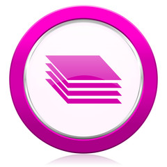 layers violet icon gages sign