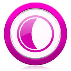 moon violet icon sleep sign