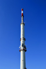 Telecommunication pole on the highest mountain in the Algarve