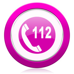 emergency call violet icon 112 call sign