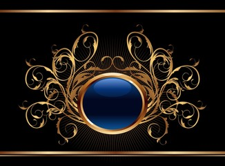 golden ornate background for design