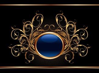 golden ornate background for design