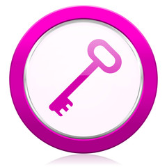 key violet icon secure symbol