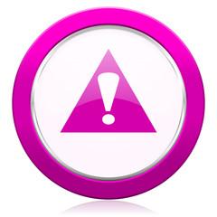exclamation sign violet icon warning sign alert symbol