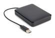 Leinwanddruck Bild - External hard disk with cable