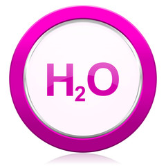 water violet icon h2o sign