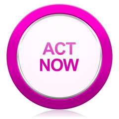 act now violet icon