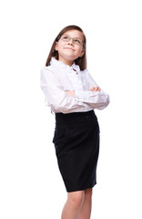 Young girl business