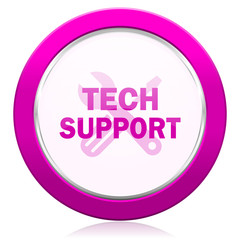 technical support violet icon