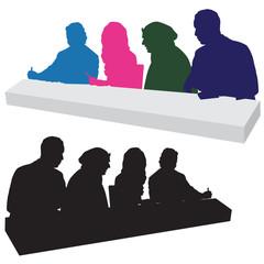 Judging Panel Silhouette
