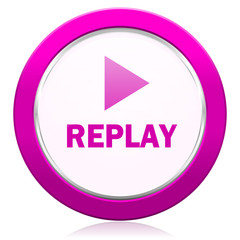 replay violet icon