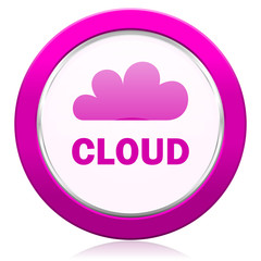 cloud violet icon