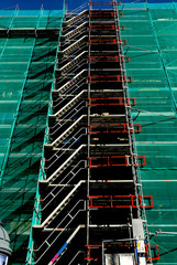 architecture, building, repair, renovation, scaffolding