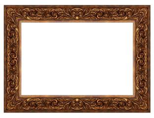 Vintage frame isolated on white