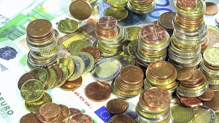 Banknotes and Coins (EURO; loopable)