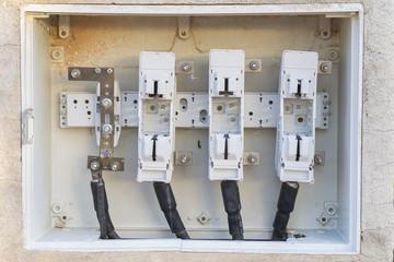 Caja de conexiones eléctricas.