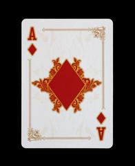 Spielkarten - Poker - Karo Ass im Spiel