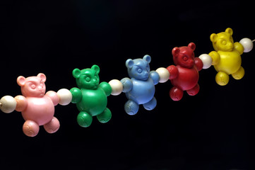 baby rattle bears toy old