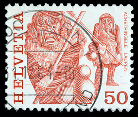 Switzerland 50 cent postage stamp