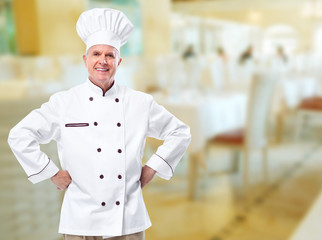 Chef in a restaurant.