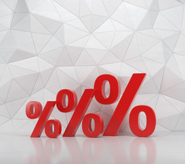 three red percent