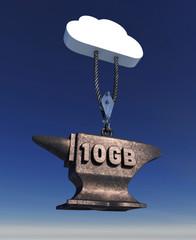 Cloud Service Uploading 10 Gigabytes