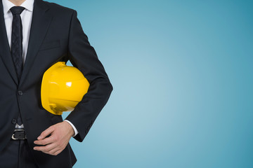businessman with hard hat