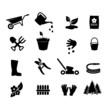 Garden icon set vector