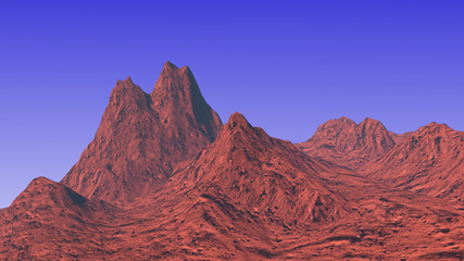 3D rendered mountain landscape