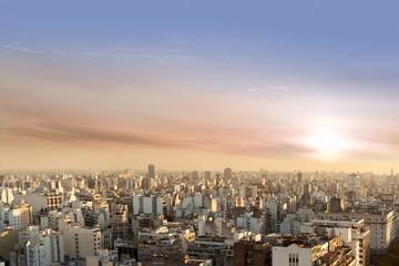 Aerial View of Buenos Aires Argentina from Palacio Barolo