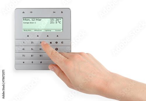 Zdjęcia na płótnie, fototapety, obrazy : Klawiatura, kontroler systemu alarmowego