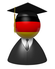 Germany college graduate concept for schools and education